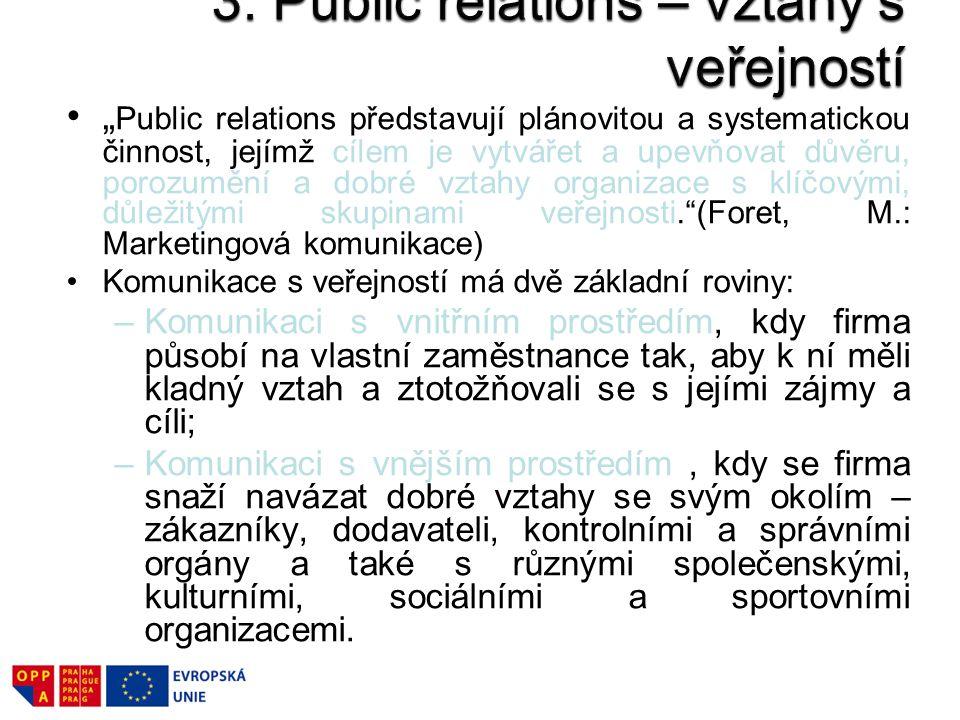 3. Public relations – vztahy s veřejností