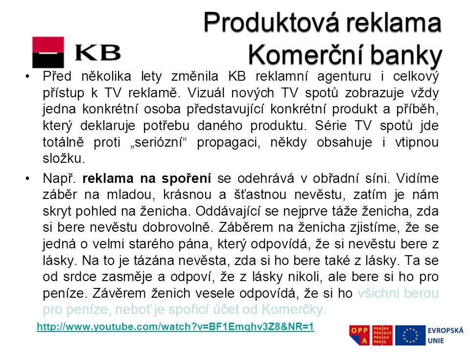 Produktová reklama Komerční banky