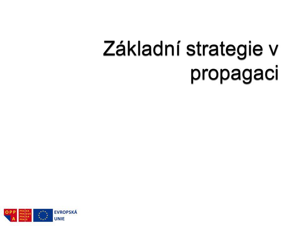 Základní strategie v propagaci