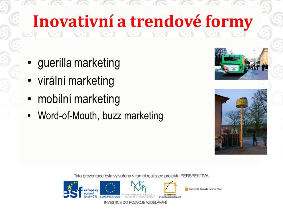 Inovativní a trendové formy