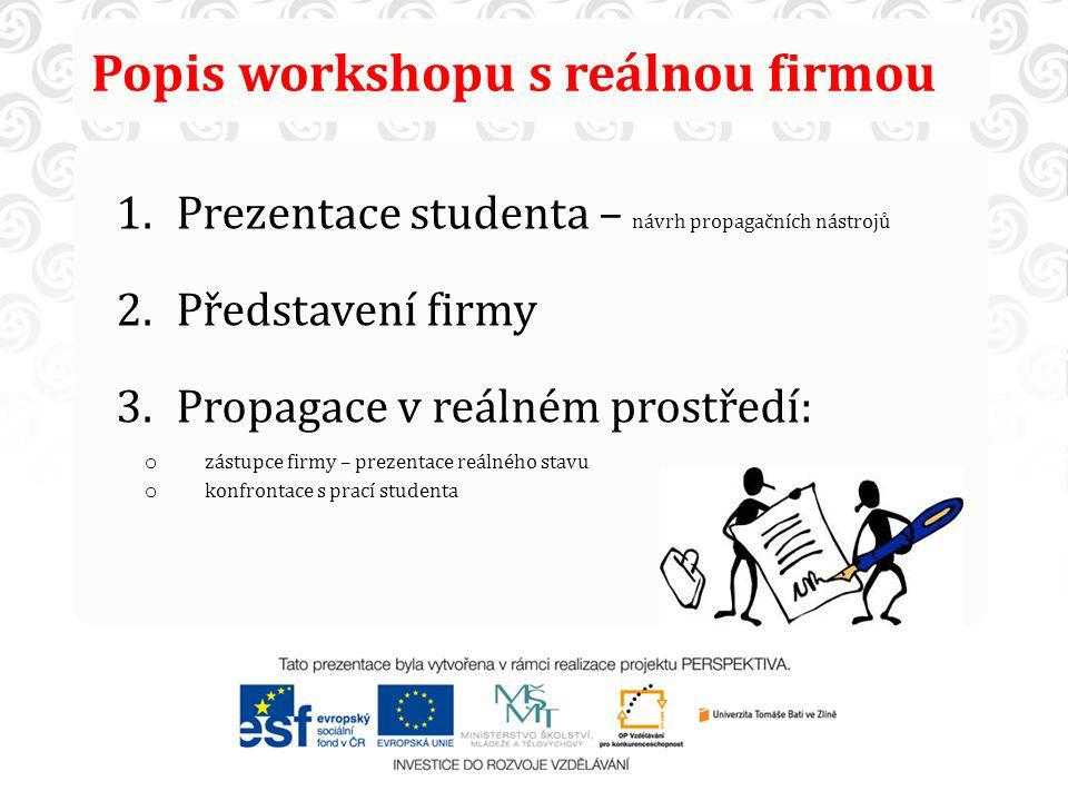Popis workshopu s reálnou firmou