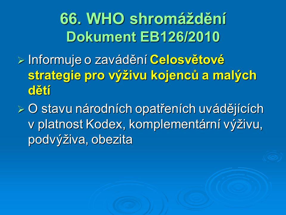 66. WHO shromáždění Dokument EB126/2010