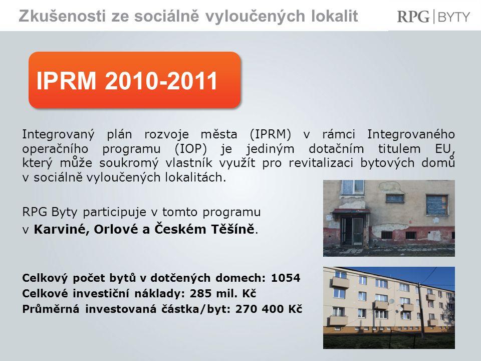 IPRM 2010-2011 Zkušenosti ze sociálně vyloučených lokalit