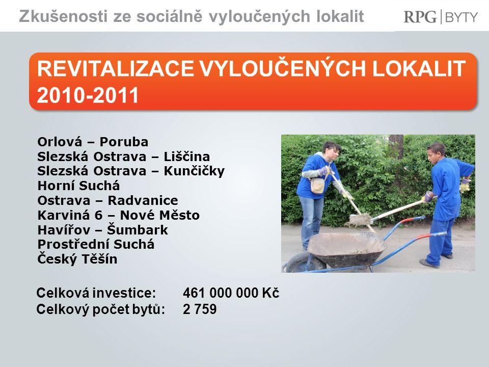 REVITALIZACE VYLOUČENÝCH LOKALIT 2010-2011