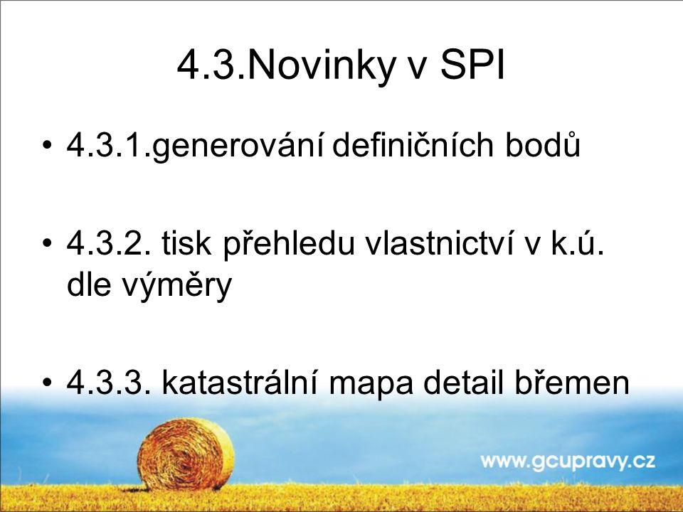 4.3.Novinky v SPI 4.3.1.generování definičních bodů