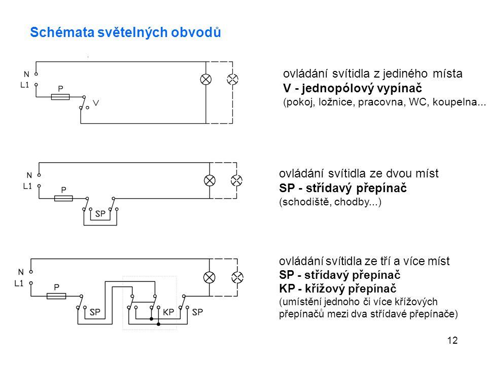 Schémata světelných obvodů