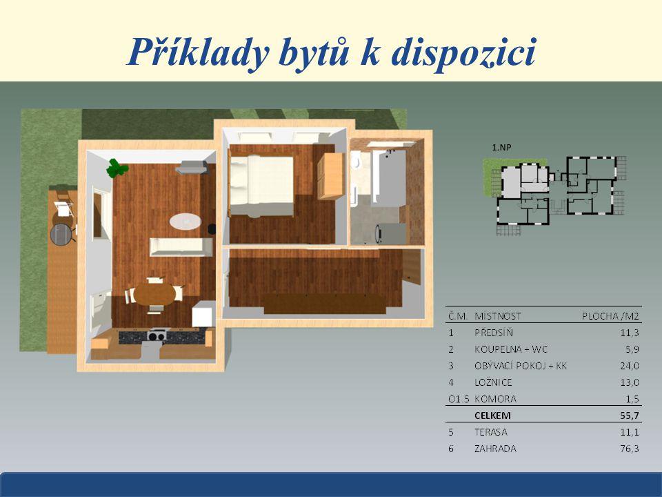 Příklady bytů k dispozici