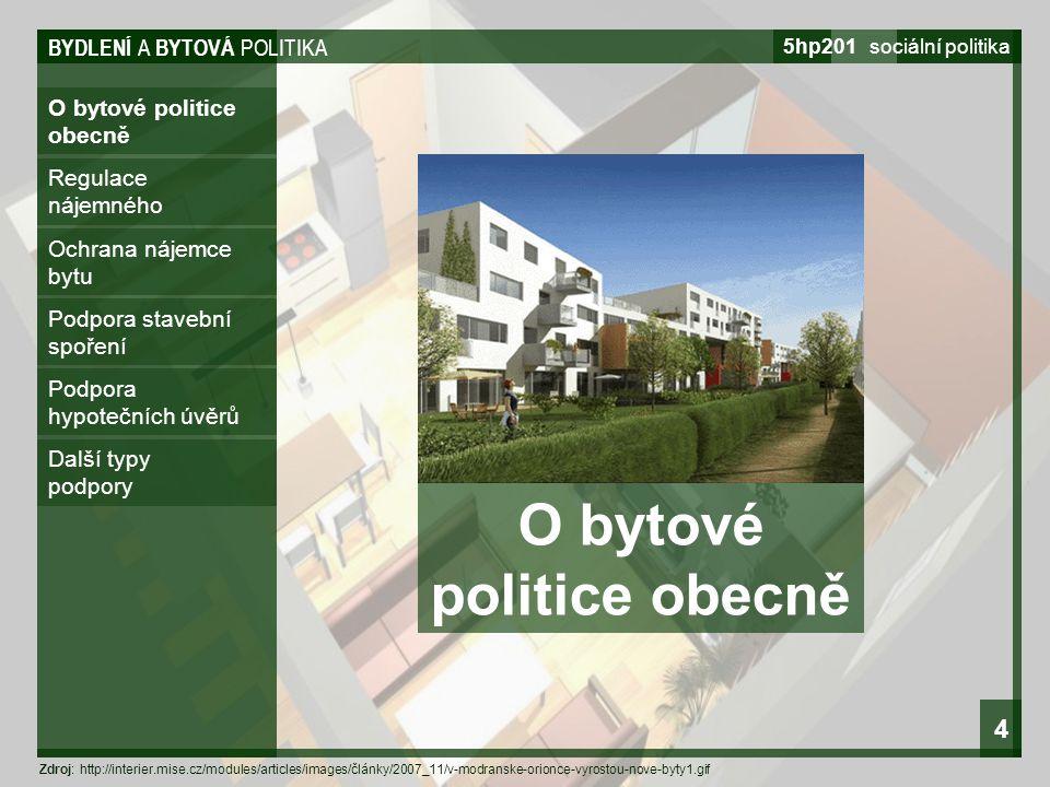 O bytové politice obecně