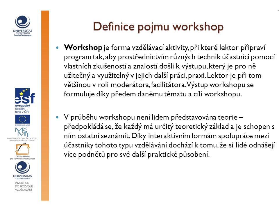 Definice pojmu workshop