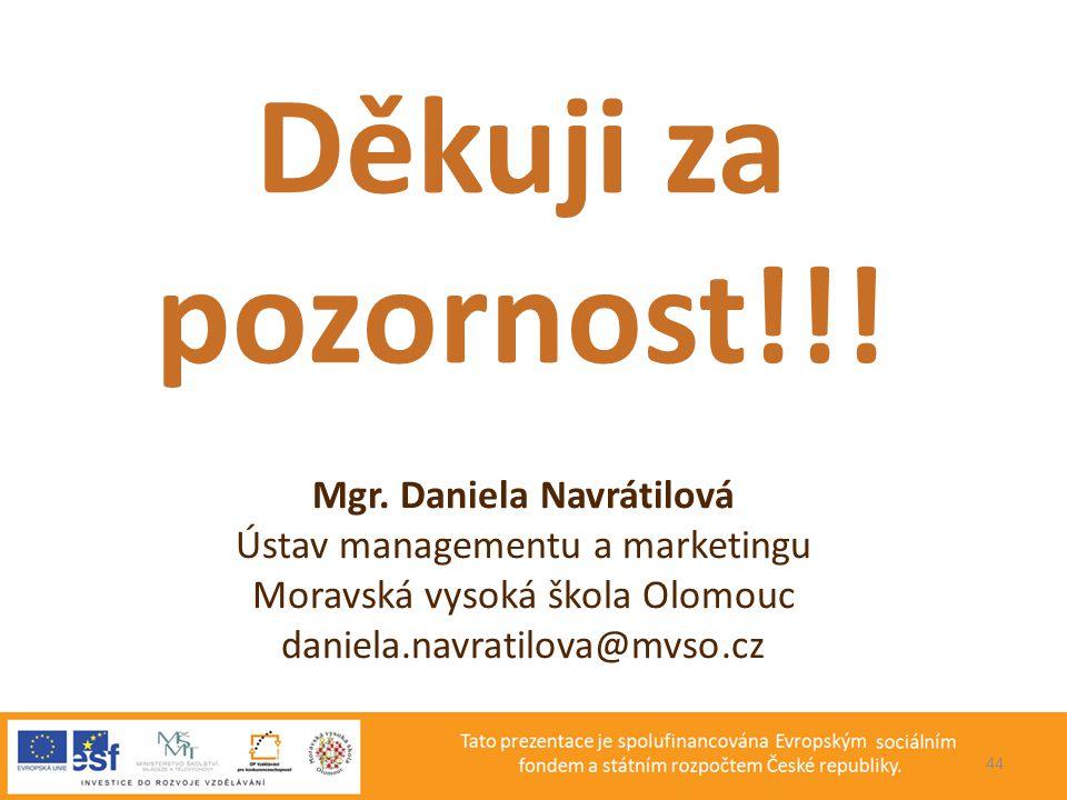 Mgr. Daniela Navrátilová