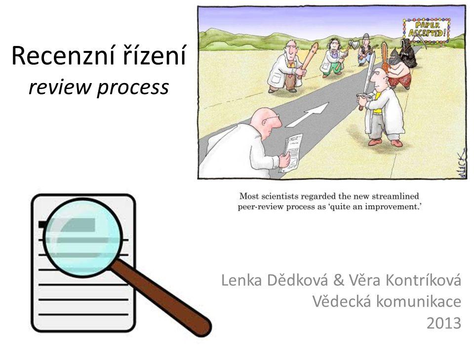 Recenzní řízení review process