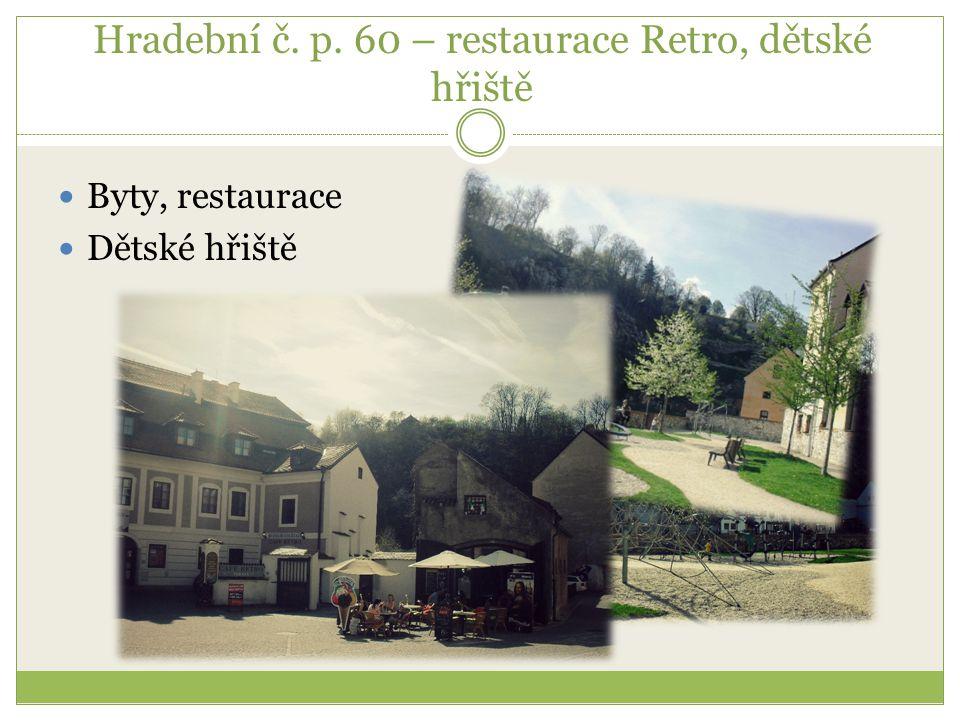 Hradební č. p. 60 – restaurace Retro, dětské hřiště