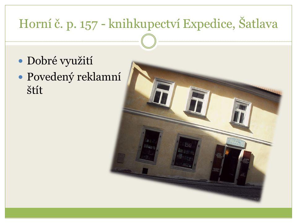 Horní č. p. 157 - knihkupectví Expedice, Šatlava