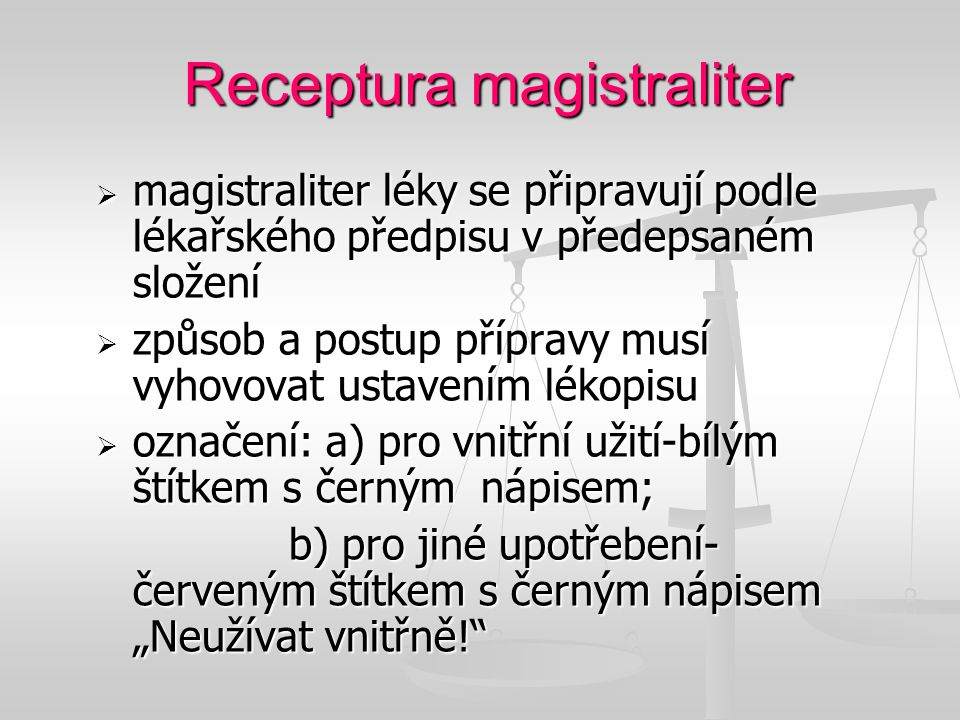 Receptura magistraliter