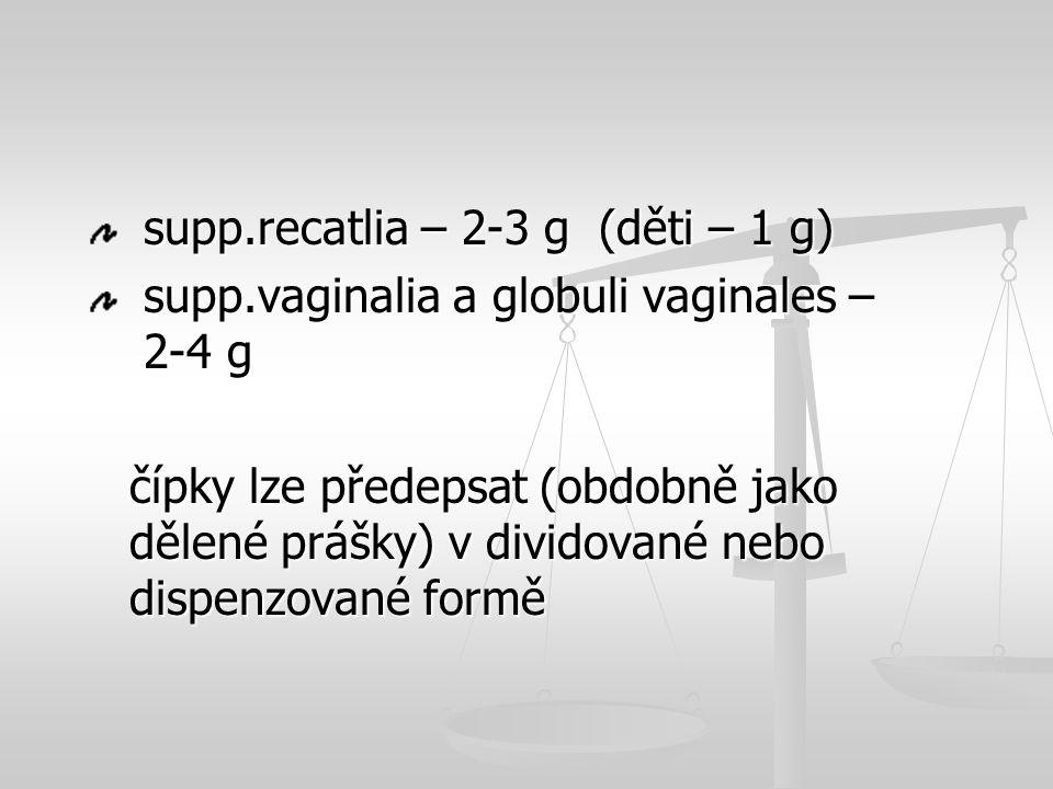 supp.recatlia – 2-3 g (děti – 1 g)