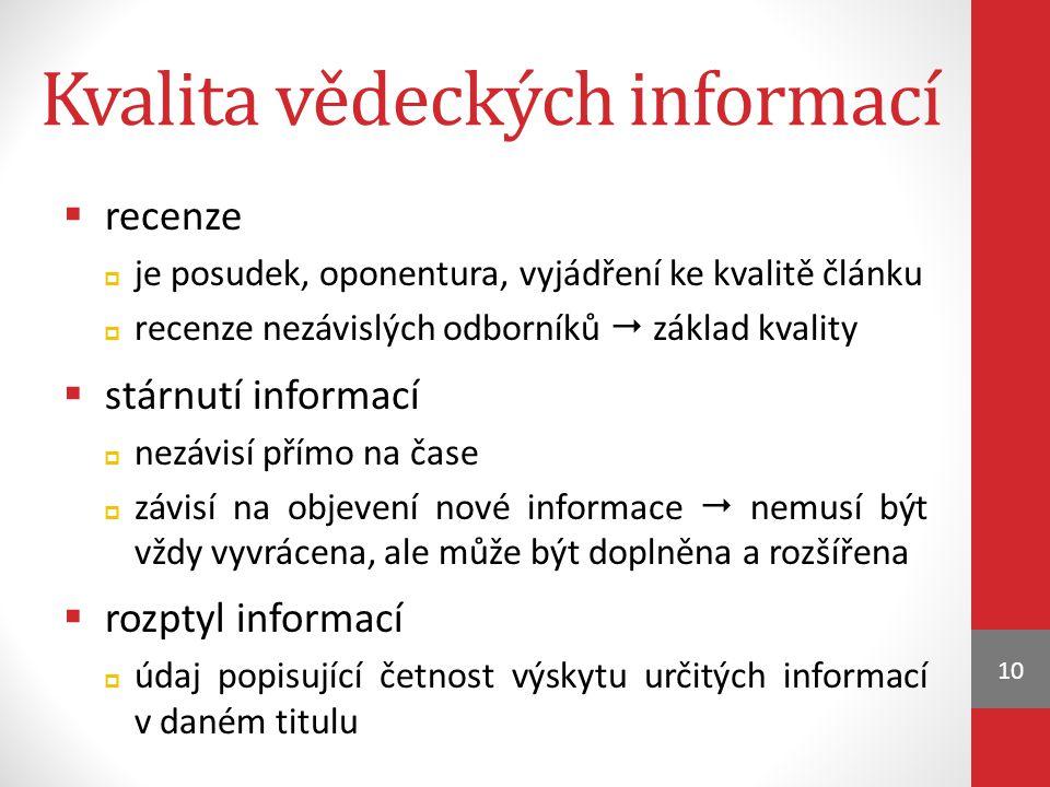 Kvalita vědeckých informací