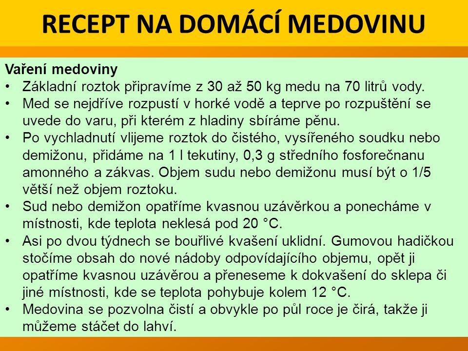RECEPT NA DOMÁCÍ MEDOVINU