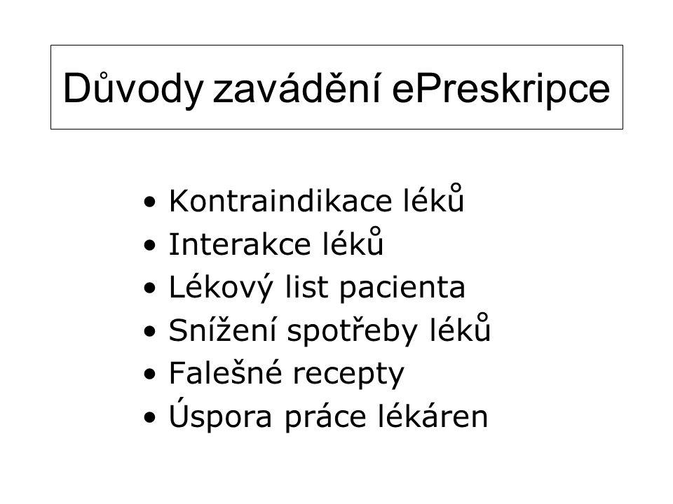 Důvody zavádění ePreskripce