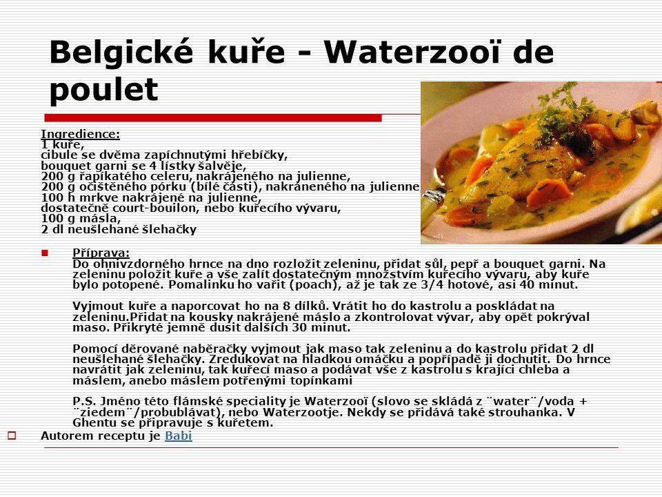 Belgické kuře - Waterzooï de poulet
