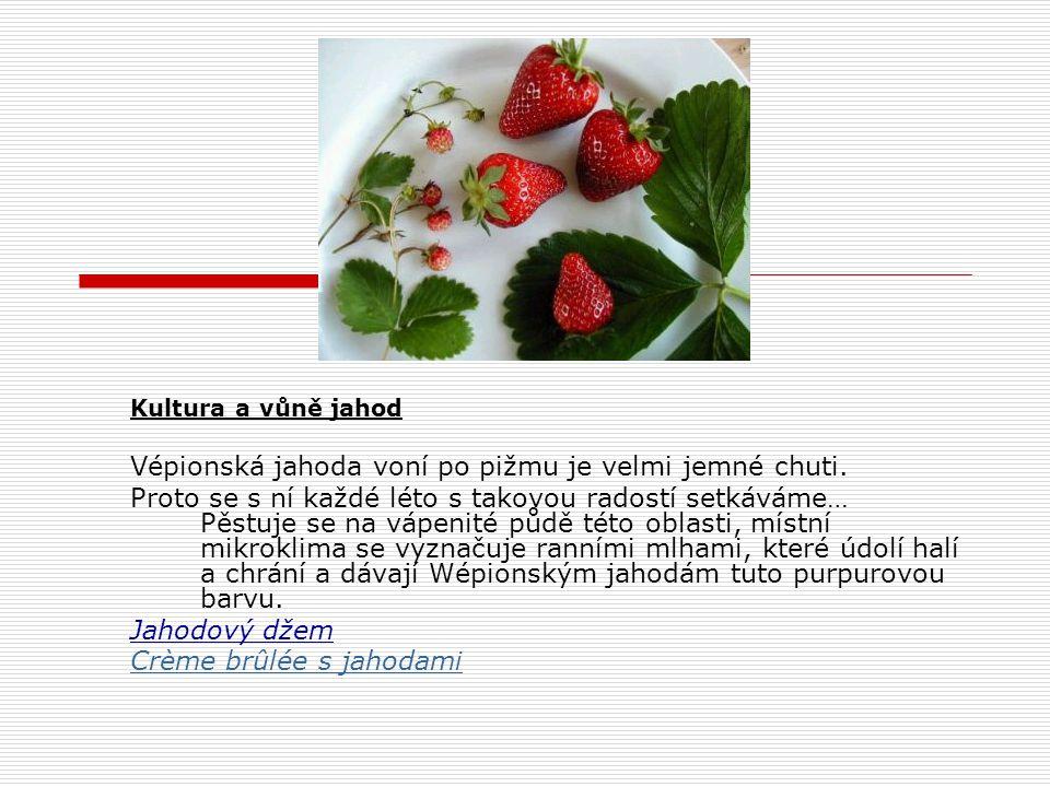 Vépionská jahoda voní po pižmu je velmi jemné chuti.