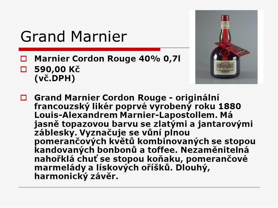 Grand Marnier Marnier Cordon Rouge 40% 0,7l 590,00 Kč (vč.DPH)