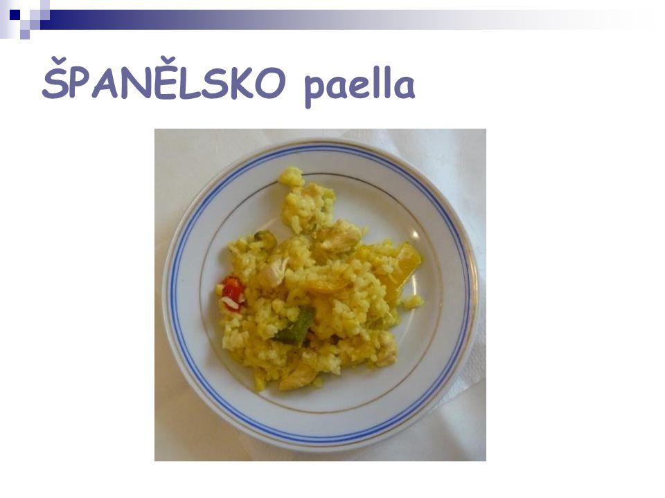 ŠPANĚLSKO paella
