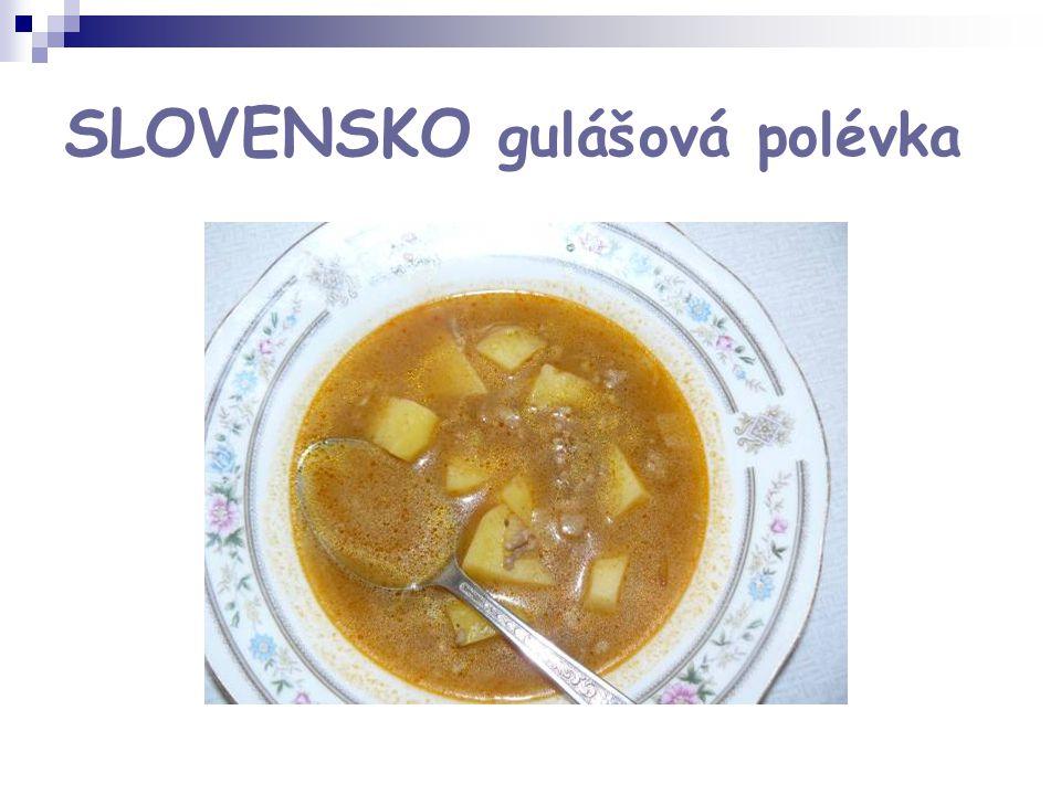 SLOVENSKO gulášová polévka