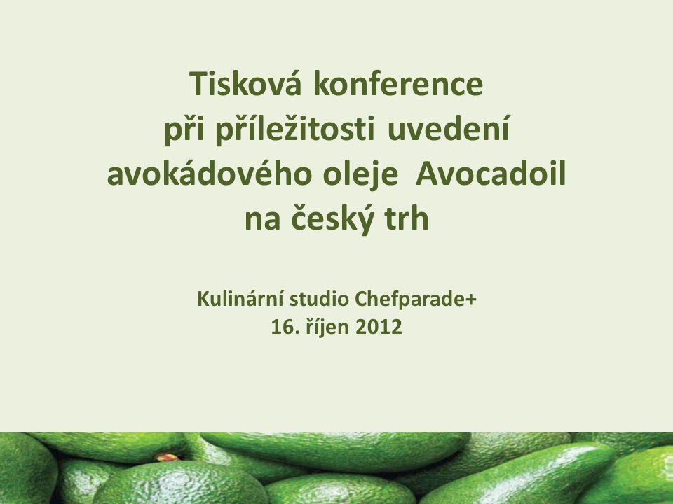 16.10.2012 Tisková konference při příležitosti uvedení avokádového oleje Avocadoil na český trh Kulinární studio Chefparade+ 16.