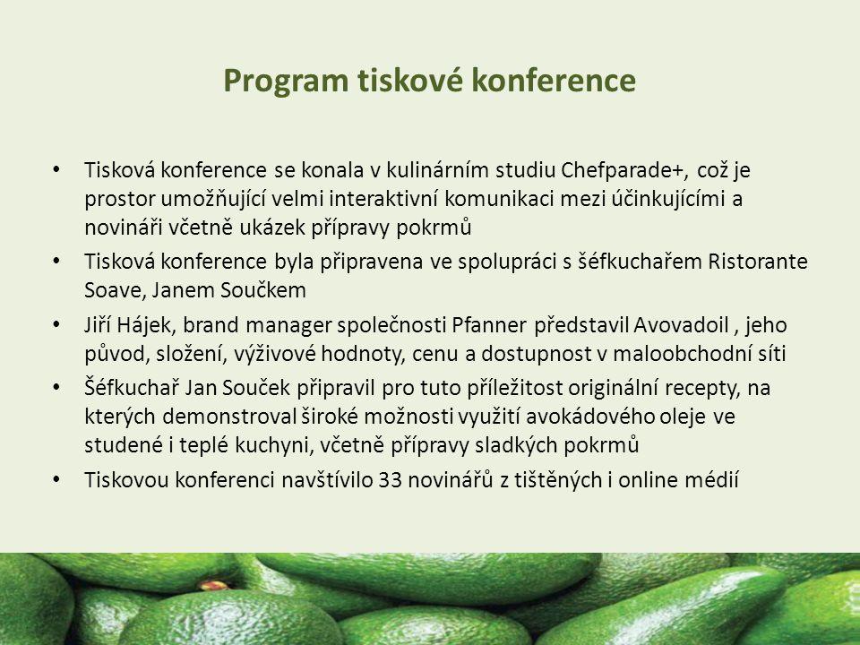 Program tiskové konference