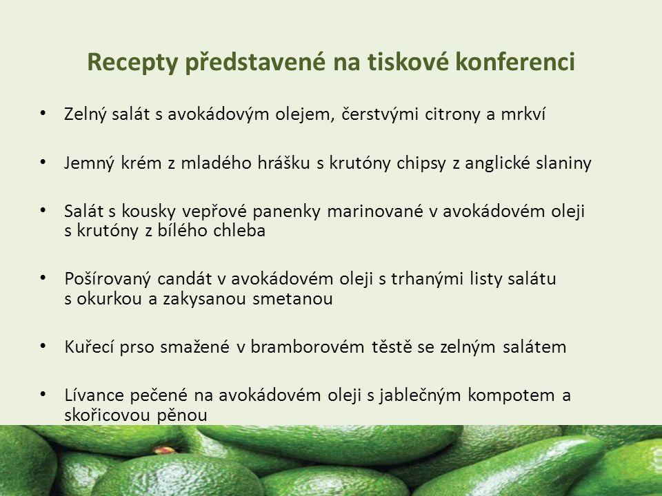 Recepty představené na tiskové konferenci