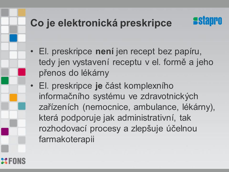 Co je elektronická preskripce
