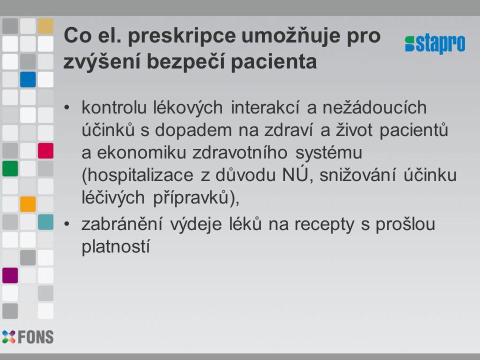 Co el. preskripce umožňuje pro zvýšení bezpečí pacienta