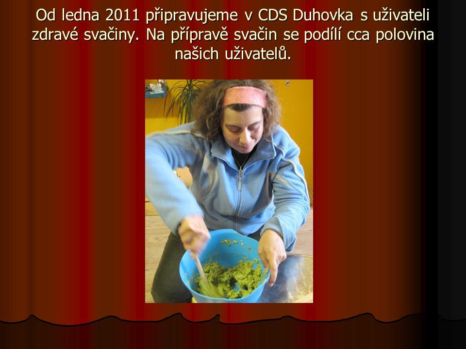 Od ledna 2011 připravujeme v CDS Duhovka s uživateli zdravé svačiny