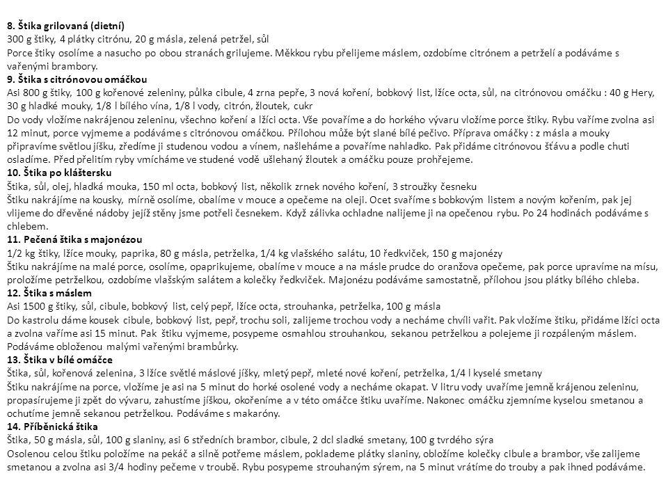 8. Štika grilovaná (dietní)