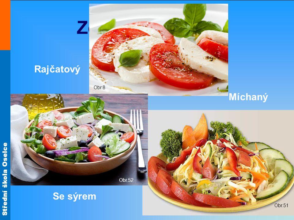 Obr.8 Zeleninové saláty Rajčatový Míchaný Obr.52 Obr.51 Se sýrem