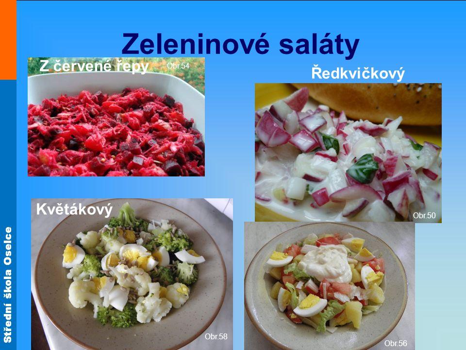 Zeleninové saláty Z červené řepy Ředkvičkový Květákový Obr.54 Obr.50