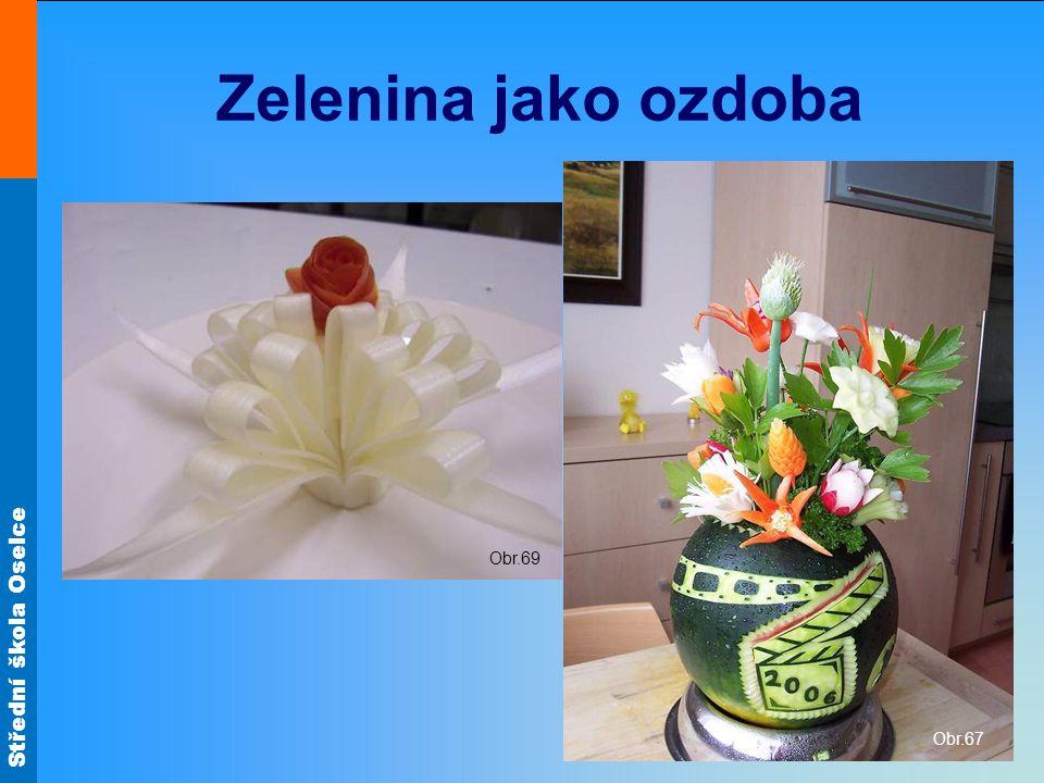 Zelenina jako ozdoba Obr.67 Obr.69
