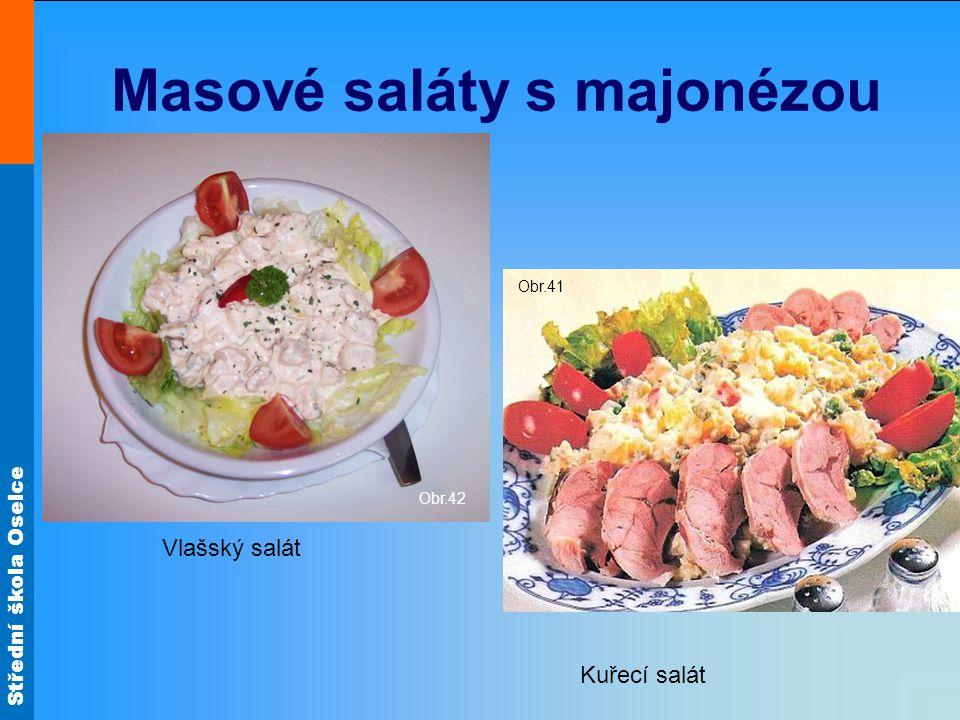 Masové saláty s majonézou