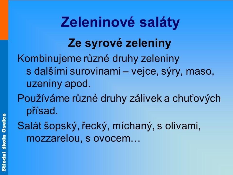 Zeleninové saláty Ze syrové zeleniny
