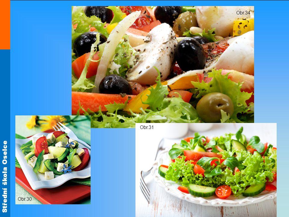 Obr.34 Zeleninové saláty Obr.30 Obr.31
