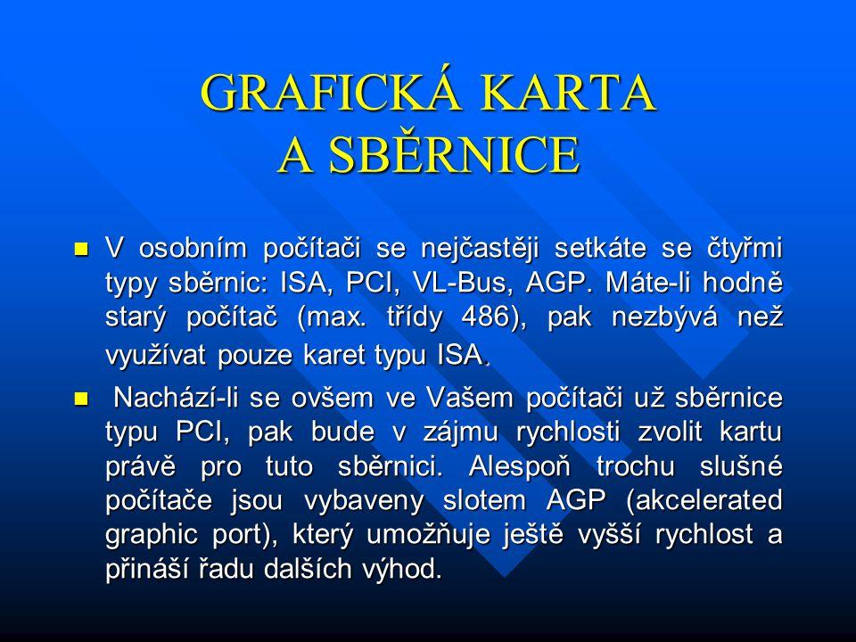 GRAFICKÁ KARTA A SBĚRNICE
