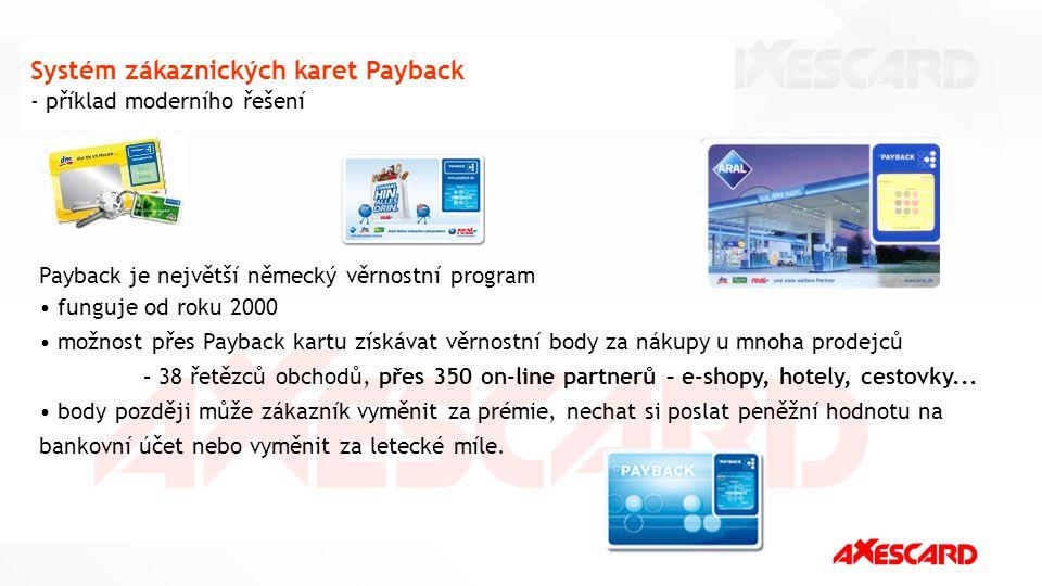Systém zákaznických karet Payback - příklad moderního řešení