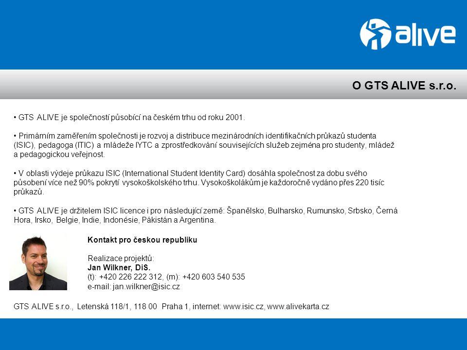 O GTS ALIVE s.r.o. GTS ALIVE je společností působící na českém trhu od roku 2001.