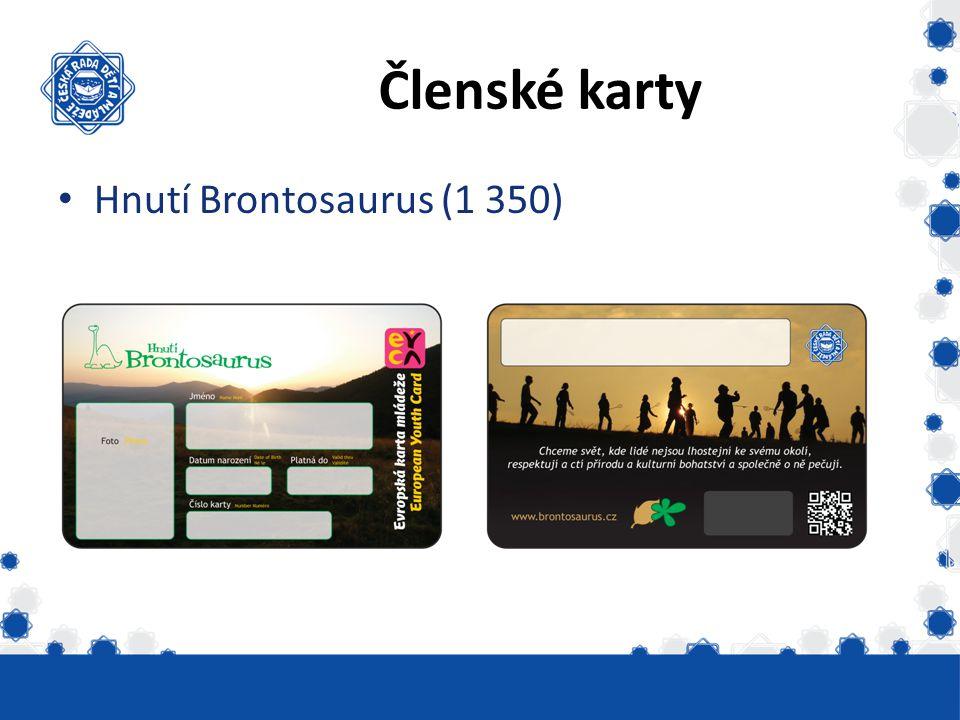 Členské karty Hnutí Brontosaurus (1 350) Vydáno skautských 6331
