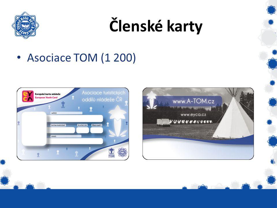 Členské karty Asociace TOM (1 200) Vydáno skautských 6331