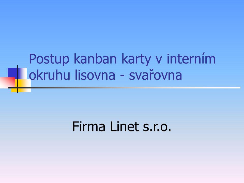 Postup kanban karty v interním okruhu lisovna - svařovna