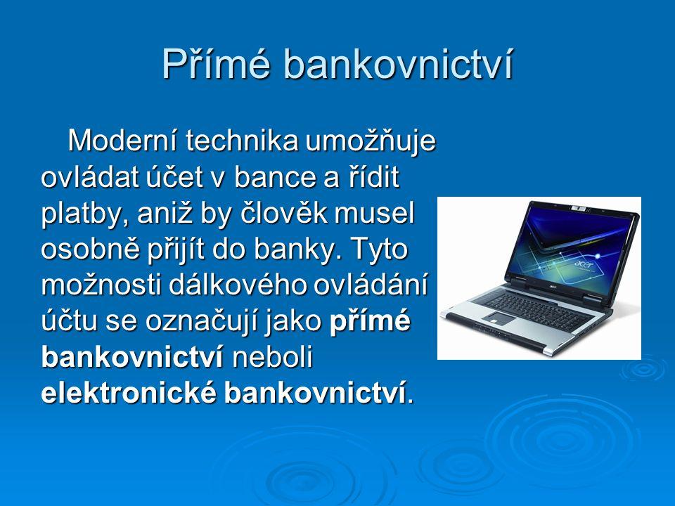 Přímé bankovnictví