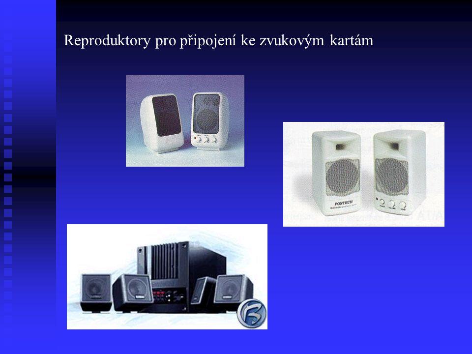 Reproduktory pro připojení ke zvukovým kartám
