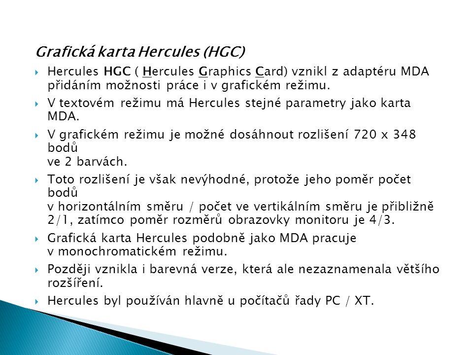 Grafická karta Hercules (HGC)