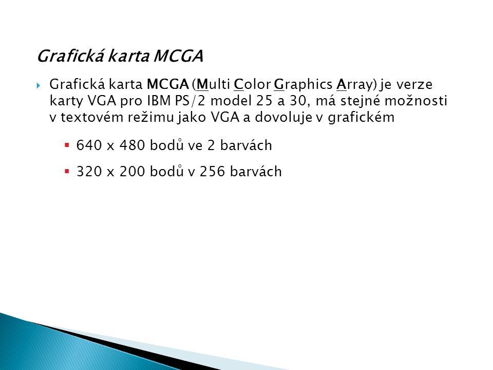 Grafická karta MCGA